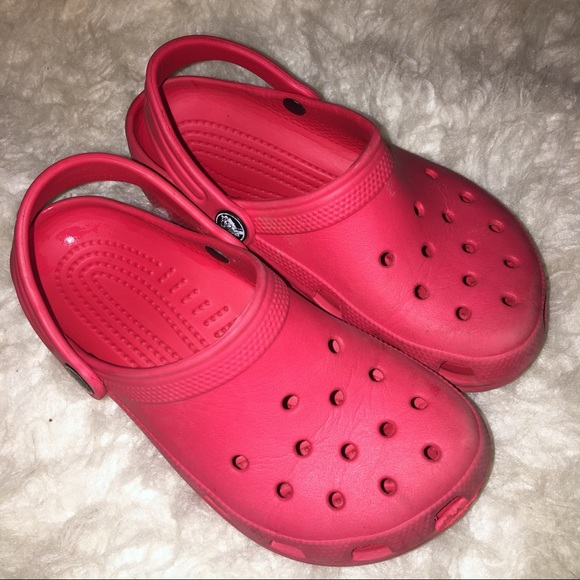 CROCS Shoes | Kids Red Crocs Size 213